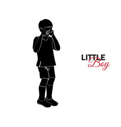 little child baby the little boy is crying vector image