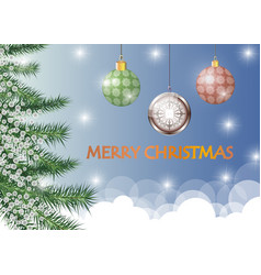 merry christmas festive with christmas toys vector image