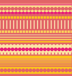 Neon pink orange and yellow rectangles circles vector