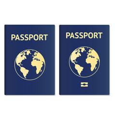 Passport document id international pass vector