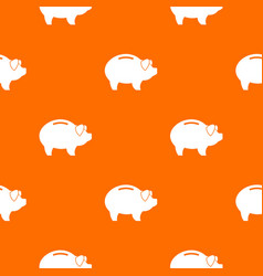 piggy pattern seamless vector image