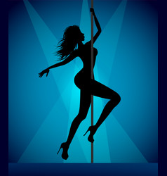 pole dancer girl vector image