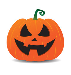 pumpkin jack o lantern smiley face vector image