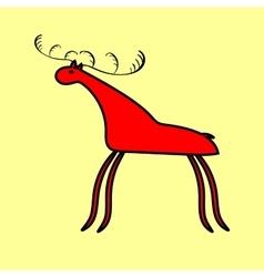 Red deer or moose ethnic ornament vector