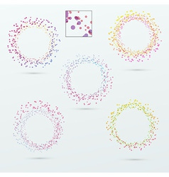 Round circle design elements collection vector image