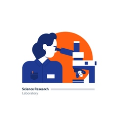 Science lab scientific research laboratory woman vector image