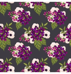 Seamless vintage pattern with painted flowers vector image
