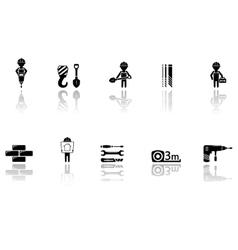 Set of construction icons with tools vector