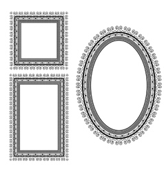 Set of Different Vintage Frames vector image