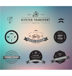 set of hipster modern labels icons vector image
