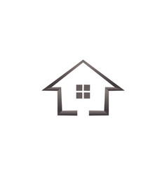 simple house real estate logo template vector image