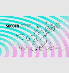 soccer player and goalkeeper fighting for the vector image