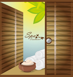 spa with message product and towels vector image