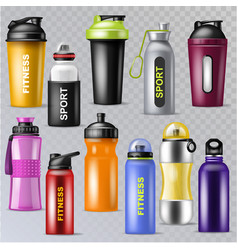 sport bottle sportive water bottled drink vector image