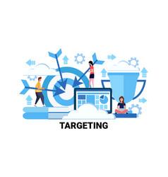 Target business goal targeting concept flat vector