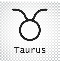 Taurus zodiac sign flat astrology on isolated vector