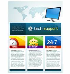 tech support brochure vector image