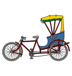 The classic rickshaw vector