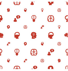 Think icons pattern seamless white background vector