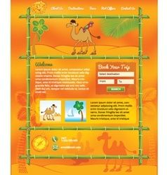 Tropic Travel Concept for Web Site vector