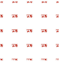 Truck with hook icon pattern seamless white vector