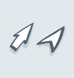two drawn arrows vector image