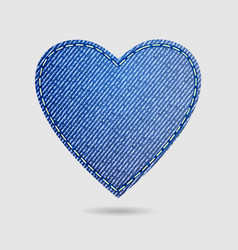 valentines day isolated denim heart vector image