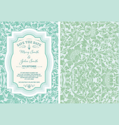 vintage save date layout vector image