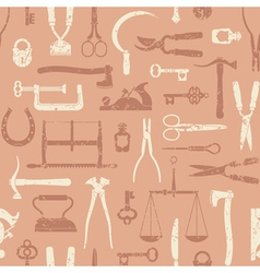 Vintage Tools And Instruments Pattern 3 vector
