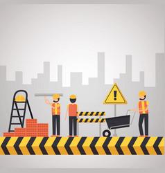 worker construction equipment vector image