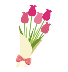 bouquet flower natural present ornament vector image