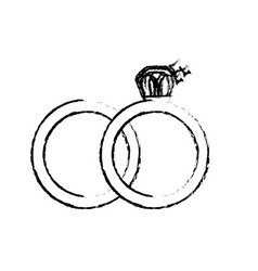figure wedding ring to symbolic the love vector image vector image