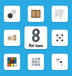 flat icon games set of backgammon chequer guess vector image vector image