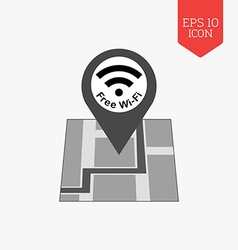 Free Wifi zone icon Flat design gray color symbol vector image