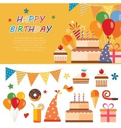 happy birthday flat icon vector image