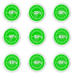 percent and discounts vector image vector image
