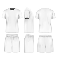 Men short sleeve t-shirt and sport shorts vector image vector image