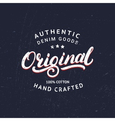 Original hand written lettering for label or badge vector image vector image