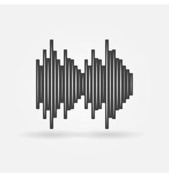 Soundwave black icon vector image vector image