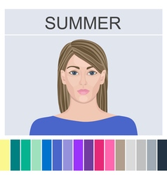 Stock summer type of female appearance vector image