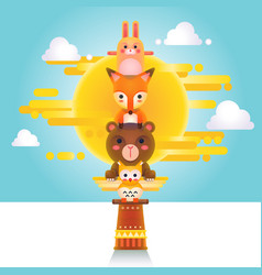 Cute Animal Totem vector image vector image