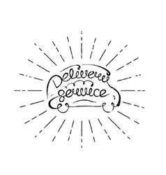 delivery service lettering vector image