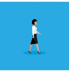 flat of businesswoman vector image vector image