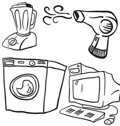 Household objects vector