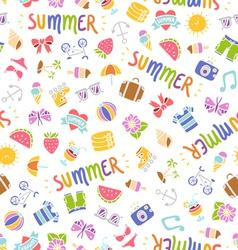Summer doodle pattern vector image vector image