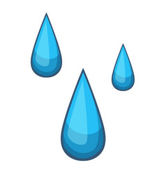 water drops icon cartoon style vector image