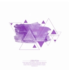 Abstract background with hipster triangles vector