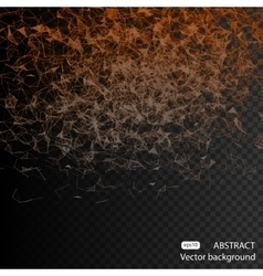 Abstract triangles space low poly Dark background vector image vector image