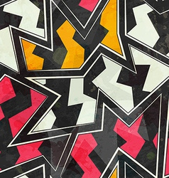 abstract zigzag geometric seamless pattern vector image