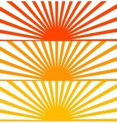 Flat Red set sun sunrise vector image